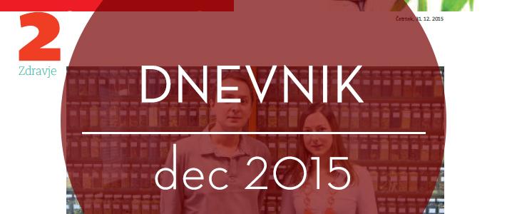 Dnevnik, priloga Zdravje, december 2015